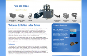 Motion Index Drives Product Banner