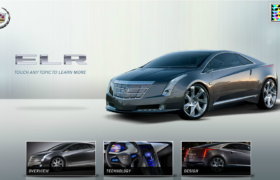 Cadillac ELR Feature Vehicle Kiosk